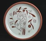 Bird Plate 1 by Simon Taylor, Ceramics, Terracotta