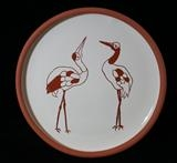 Cranes plate by Simon Taylor, Ceramics, Terracotta