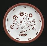 Large flower plate by Simon Taylor, Ceramics, Terracotta