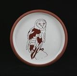 Owl plate by Simon Taylor, Ceramics, Terracotta