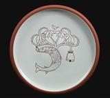 St Mungo plate by Simon Taylor, Ceramics, Terracotta