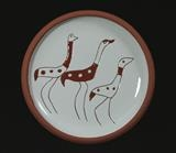 Three birds plate by Simon Taylor, Ceramics, Terracotta